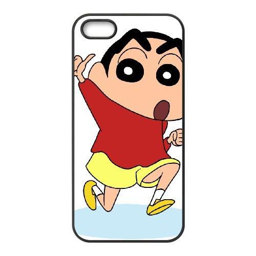 Crayon Shin Chan coque iPhone 5 5S Housse téléphone Noir de couverture de cas coque EBDXJKNBO16643
