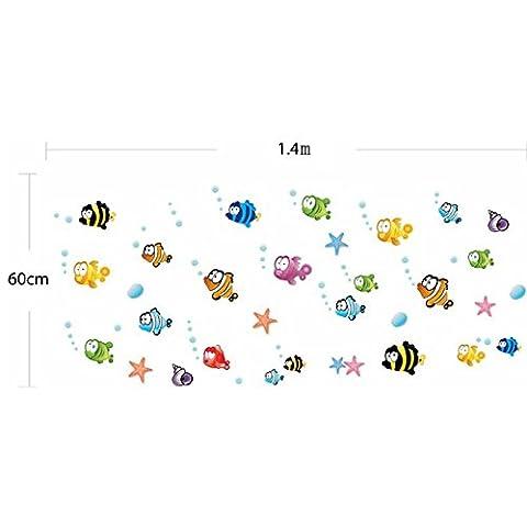 DIY organismes marins poisson design sticker mural autocollant de (Nursery Bagno)