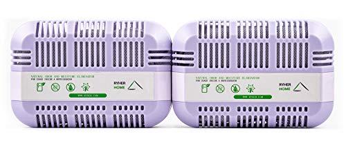 Ryher Absorbe y Elimina olores del frigorífico - Ambientador y purificador de Aire de carbón Activo...