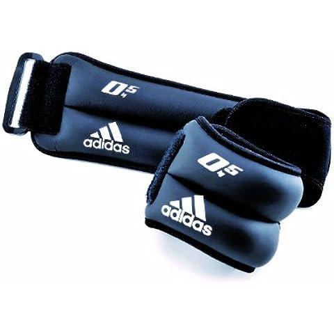 adidas ADWT-12228 - Muñequeras lastradas, color negro, 1kg