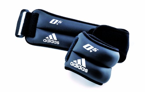 adidas, Thumb Lock, Kit polsiera, Nero (schwarz), 2 x 0,5kg