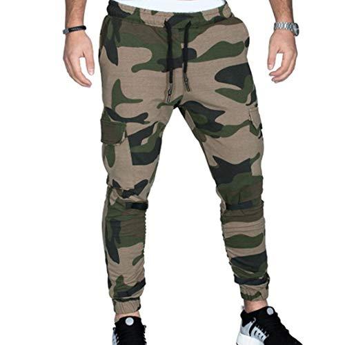 Pantalones Cargo para Hombre,ZARLLE Hombre Pantalones Largos Camuflaje Deportivos CháNdal Jogger Chino Jogging Cargo AlgodóN Bolsillo CordóN