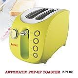 Warmex APT 09 with 2 Slice 880 Watts Auto Pop Toaster (Green)