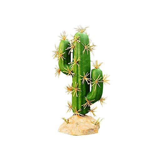 GFEU Künstliche Reptilien Aquarium Terrarium Pflanzen Kunststoff Dekor Ornament für Reptilien Amphibien (Stil A)