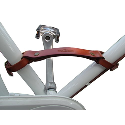 Tourbon Vintage Leder Bike Pack Zubehör Fahrradlift Rahmengriff Lifter - Braun