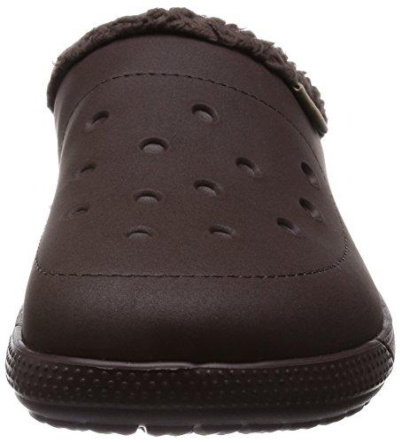 Crocs Colorlite Lined Sabot U, Zoccoli e sabot, Unisex - adulto Marrone (Mahogany/Mahogany)