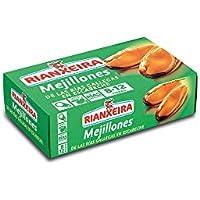 Rianxeira, Conserva de mejillones en escabeche 8-12 piezas - 6 latas de 111gr. cada una