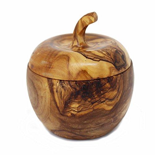 41 RACcbt3L - Salzdose aus Olivenholz | Salzdose aus Holz mit Deckel und Salzschippchen | Handarbeit | Grillzubehör | perfektes Geschenk für Grill Liebhaber