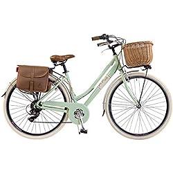Vélo Citybike Byciclette CTB Femme Dame Vintage Retro Via Veneto Aluminium Vert Clair