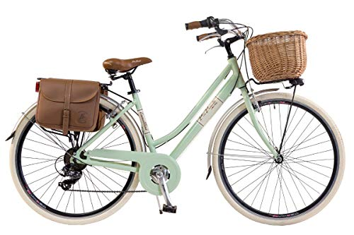 Via veneto by canellini bicicletta bici citybike ctb donna vintage retro via veneto alluminio verde chiaro taglia 46