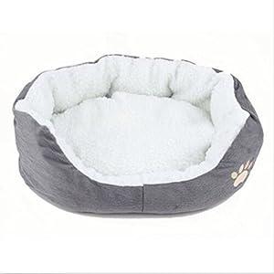 Niche ronde ou ovale en polaire pour chat ou chien de petite taille (Ash)