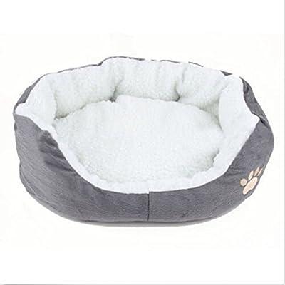 lsv-8redonda o forma ovalada hoyuelo forro polar Nesting perro Cueva Cama Mascota Gato Cama para Gatos y Perros Pequeños