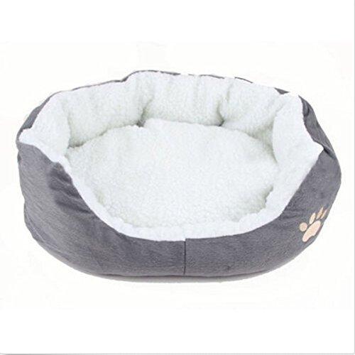 MFEIR Hundebett Katzenbett Baumwolle Pet Bett Kissen für Hunde Katzen Kleintiere,Grau,Klein