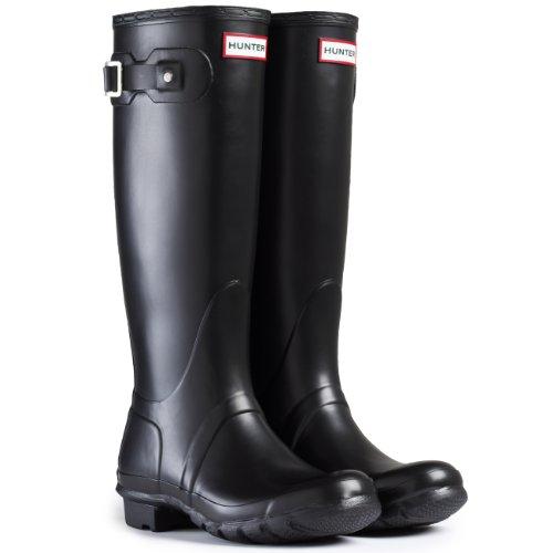Damen Hunter Wellington Stiefels Original Tall Regen Schnee Wellies Neu - Schwarz - 39 -