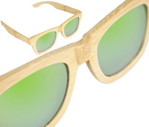 Preisvergleich Produktbild Sylt 1927 Wayfarer Sonnenbrille Echtholz Green Mile