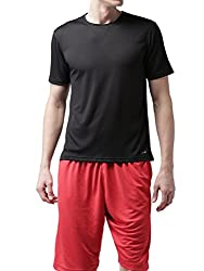 2GO Mens Polyester T-Shirt_8907262383983_Bold Black_S