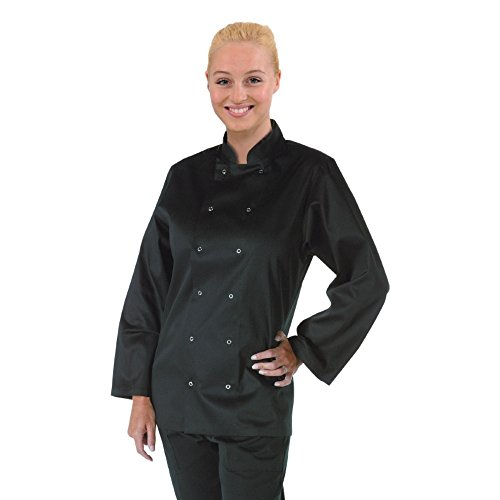 whites-chefs-apparel-a438-xs-vegas-chaqueta-de-cocinero-manga-larga-polialgodon-talla-xs-color-negro