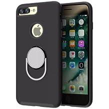 Carcasa iPhone 6 y 6s / Funda iPhone 6 / 6s shockproof iphone case con soporte de anillo girando 360 grados [ Soporte Coche Magnético ] [ iphone case for car holder Epic Blue ] - Black