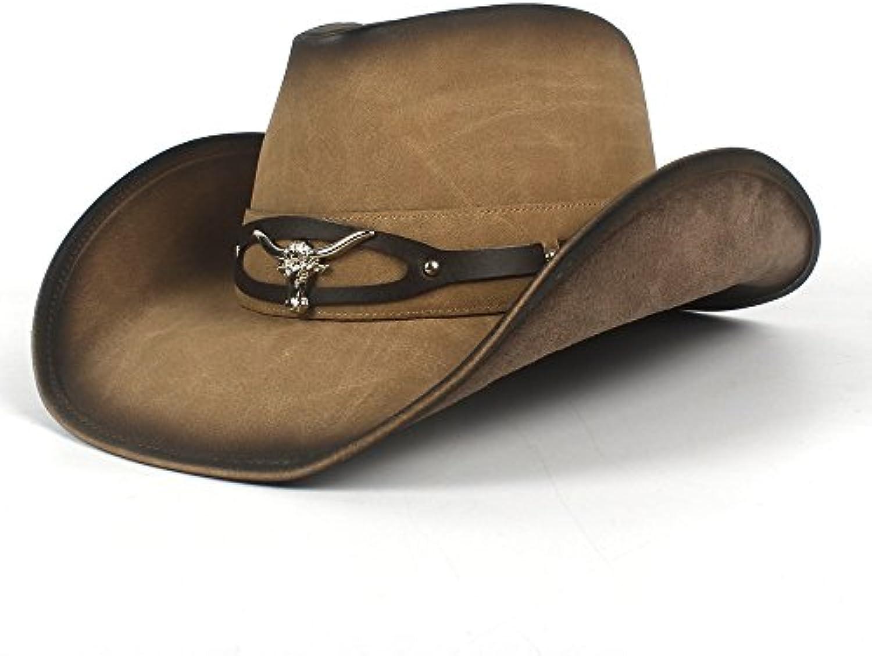 QianHaoQJu Bull 2018 Head 2018 Bull Cappello da Cowboy per Uomini Western  Jazz Cappello per Cowgirl Cowboy Cappelli a Tesa... Parent fb4928 715f139b39cb