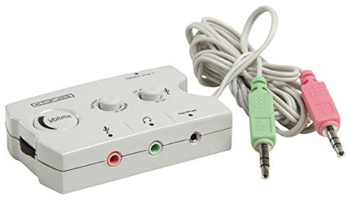 Eurosell Analog Audio Schalter 2 x 3.5 mm Stecker - 3 x 3.5 mm Buchse Mikrofon / Lautsprecher / Headset Umschalter
