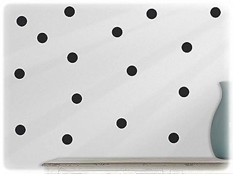 wandfabrik - Wandtattoo - 54 schöne Polka dots in schwarz