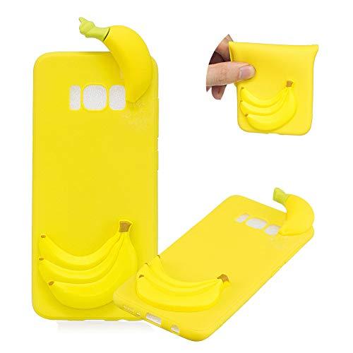 TPU Hülle für Samsung Galaxy S8 Plus,Weich Silikon Hülle für Samsung Galaxy S8 Plus,Moiky Komisch 3D Banana Entwurf Ultra Dünnen Scratch Resistant Soft Rückseite Abdeckung Handyhülle