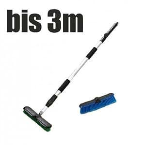 Wasserbesen Aqua Besen teleskopierbar bis 3m 3er Set