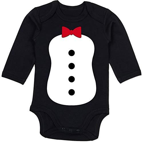 Kostüm Monate Pinguin 18 - Shirtracer Karneval und Fasching Baby - Pinguin Karneval Kostüm - 12-18 Monate - Schwarz - BZ30 - Baby Body Langarm