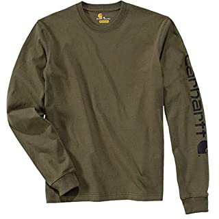 Carhartt .EK231.ARG.S006 Sleeve Logo T-Shirt, Large, Army Green