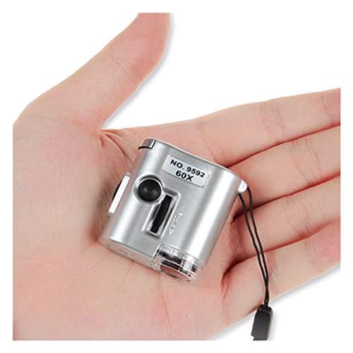Mini Lens 60X Vergrößerungsglasmikroskop und ultraviolette LED-Schmuckmarken und andere Wartungsschwerpunkte für die Wartung Einstellbares tragbares Vergrößerungsglas