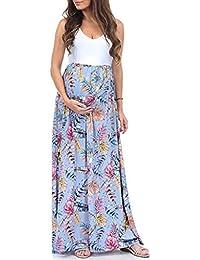 ada861e2d Vestido de Maternidad,Yesmile Ropa de Lactancia Floral Estampado Vestido  Mujeres Maxi Embarazadas Verano Vestido