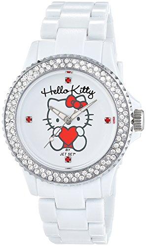 Jet Set Uto White - Reloj de cuarzo para niñas, color blanco