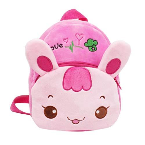Winkey Rucksack für Kinder, Baby Mädchen Jungen Cute Cartoon Tier Rucksack Kinder Schule Tasche, Schultertasche Rosa/Hase Wide 20cm x Height 24cm