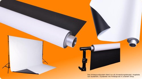 moderntex Vinylhintergrund Duo, 2.7m breit x 6m lang, schwarz & weiß, Vinyl zweifarbig