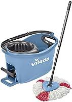 Vileda Turbo EasyWring & Clean complete set, wismop en emmer met PowerSchleuder, blauw