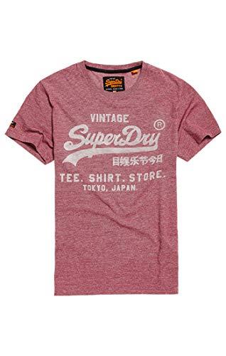 Superdry Herren Pullunder Shirt Shop Feeder Tee, Rot (Red Grit Zk3), XX-Large (Herstellergröße: 2XL)