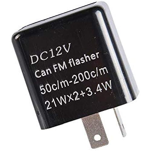 1neiSmartech Rele 12V Con Regolatore Frequenza Lampeggio Frecce Led Indicatori Di Direzione 2 Pin Universale Per Auto E Moto (nero)