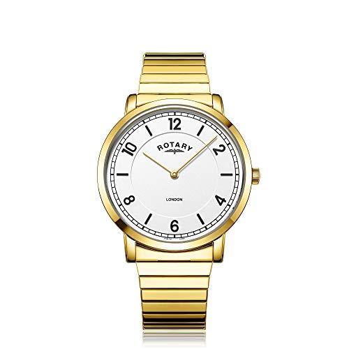 Rotary GB02766/18 - Orologio analogico da uomo, colore: oro