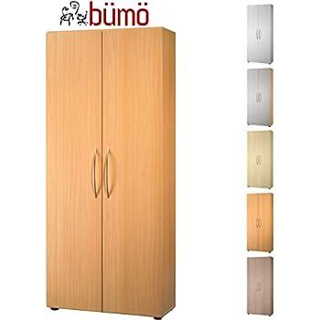Aktenschrank holz  Bümö® Aktenschrank aus Holz | Büroschrank für Aktenordner ...