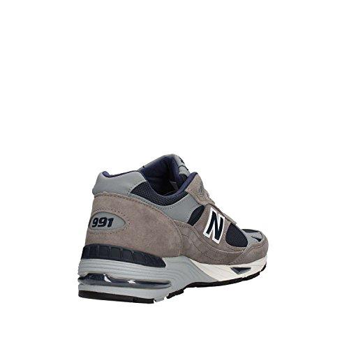 Sneaker New Balance 991 Uomo M991ANG in pelle scamosciata e tessuto Grey/Navy