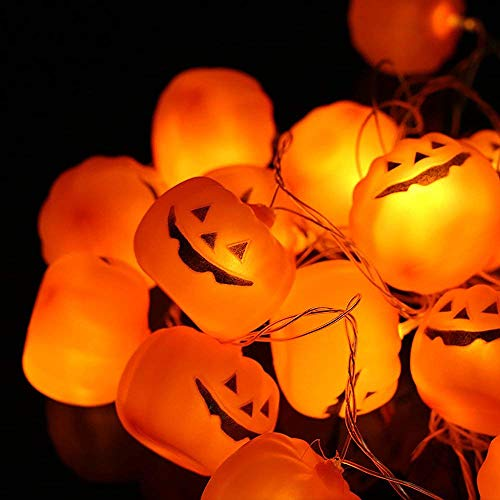 Halloween-Lichterkette Lichterkette, 16 Alxcio LED Kürbis Schnur Lichter, Halloween Dekoration Lichter für Indoor Home Dekorationen, Halloween, Weihnachten, Bar - Batteriebetrieben, ca. 3.8m Länge, Warmen ()