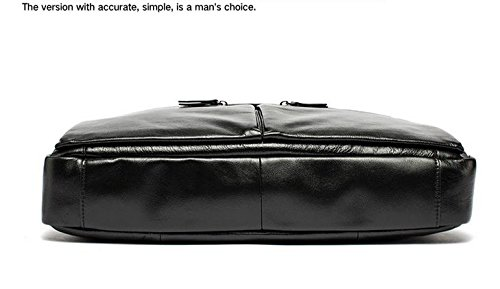 echtes leder - tasche lässig handtaschen rindsleder männer crossbody taschen für männer reisetaschen tragen aktentaschen männer laptop - tasche Schwarz