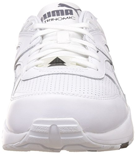 Puma R698, Baskets Basses Mixte Adulte Blanc (White/White/Steel Gray)