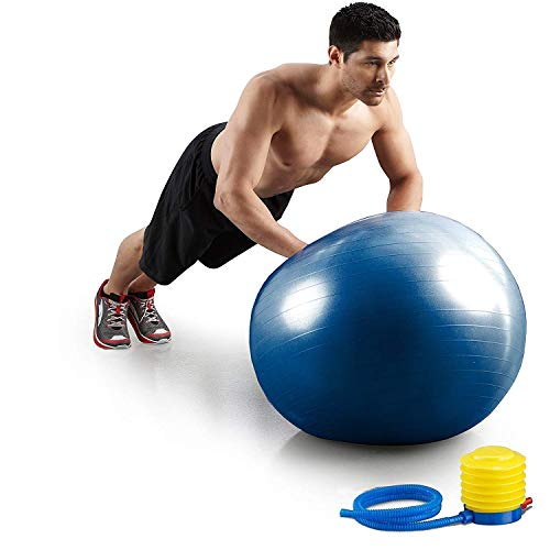 PICKVILL Exercise Ball Professional Grade Anti Burst Exercise Equipment for Home, Balance, Gym, Core Strength, Yoga, Fitness with Pump