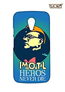 VDESI Matte case for Motorola Moto G2 (2nd Gen) - BoseImmortal (Blu)