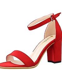 GGX/ Zapatos de mujer-Tacón Cono-Tacones / Puntiagudos-Tacones-Oficina y Trabajo / Casual-Cuero Patentado-Negro / Blanco , white-us8 / eu39 / uk6 / cn39 , white-us8 / eu39 / uk6 / cn39