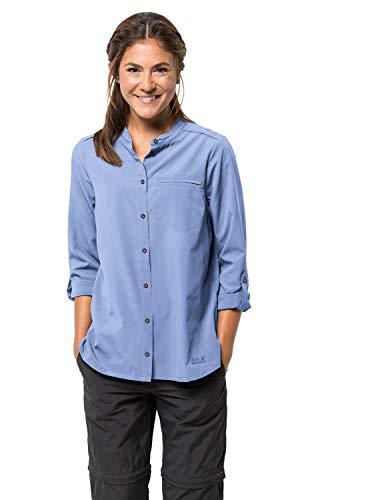 Jack Wolfskin Damen Victoria ROLL-UP Shirt W Bluse, Blue, XS (Damen Ski-jacke Xsmall:)