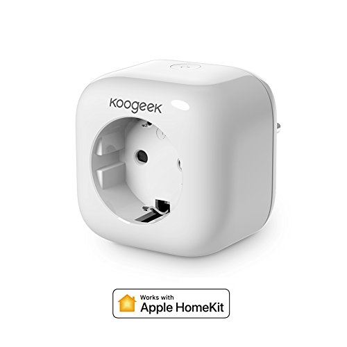 koogeek - Presa smart Wi-Fi Smart Plug, 2.4 GHz con HomeKit Siri e Alexa Home App, compatibile con iOS 9.0 e Android 4.3