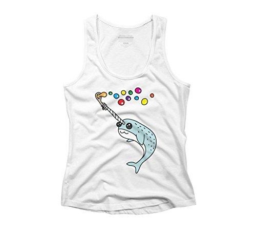 Charakter Maskottchen Cartoon (Rainbow Bubble Damen Racerback Tank Top–Design von Menschen, Weiß, 227488-54-3-9-DBH.AMEU)