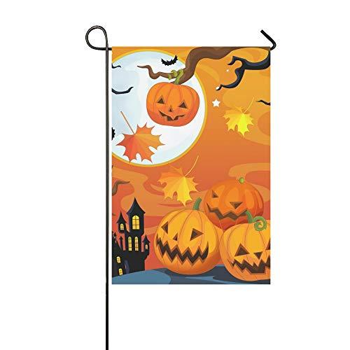 JOCHUAN Wohnkultur Cartoon Halloween Szene Kinder Garten Flaghouse Yard Flaggarden Yard Decorationsseasonal Willkommen Outdoor Flagge 12X18 Zoll